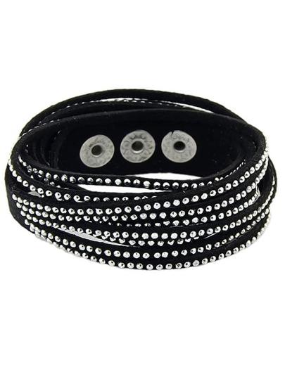 Armband mit Strass besetzt-schwarz
