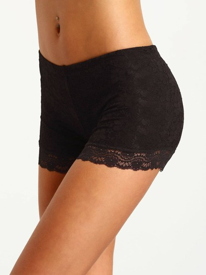 Shorts encaje casual -negro