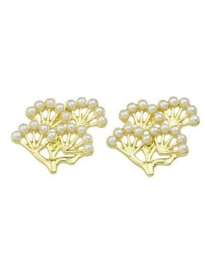 Pearl Tree Shape Stud Earrings
