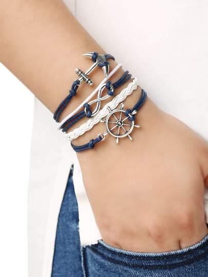 Braid Anchors Bracelet