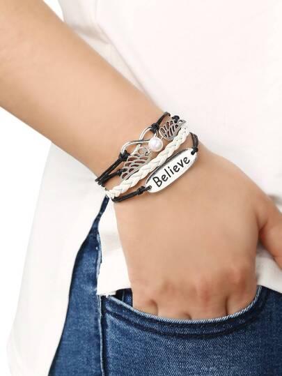 Braid Brand Wing Bracelet