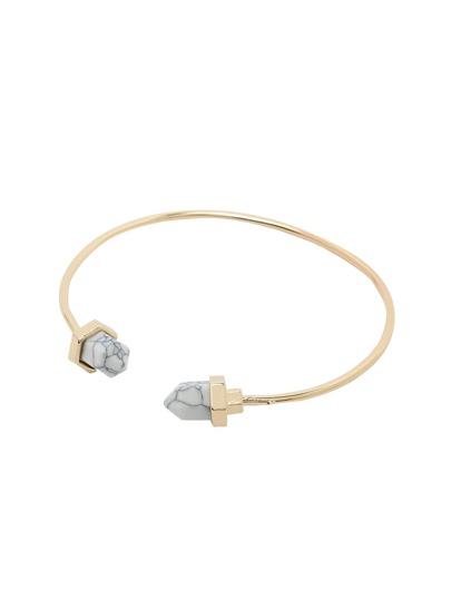 White Stone Cuff Bracelet
