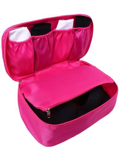 Bolso cremallera multifuncional lavado -rosado