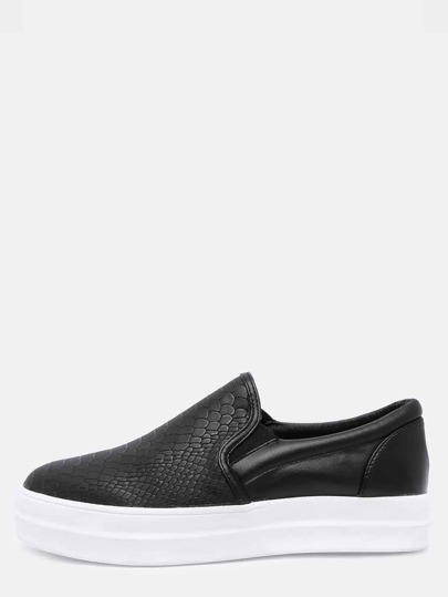 derbies motif-serpent -Noir