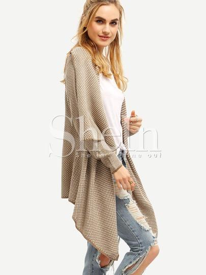 Maglione asimmtrico con maniche lunghe albicocca