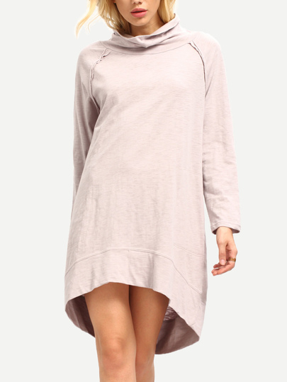 Oatmeal Long Sleeve Casual Dress
