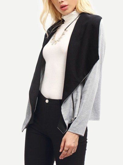 Zip Up Asymmetric Coat