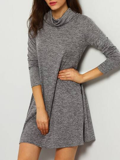 Cowl Neckline T-shirt Dress