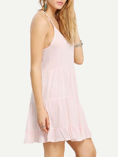 Racer Back Tiered Swing Cami Dress