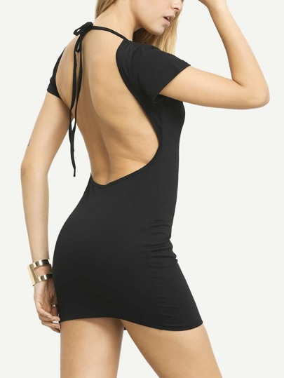 Open Back Bodycon Slinky Dress Clubwear Clubdresses