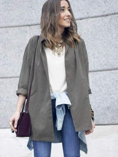Slit Side Belt Coat