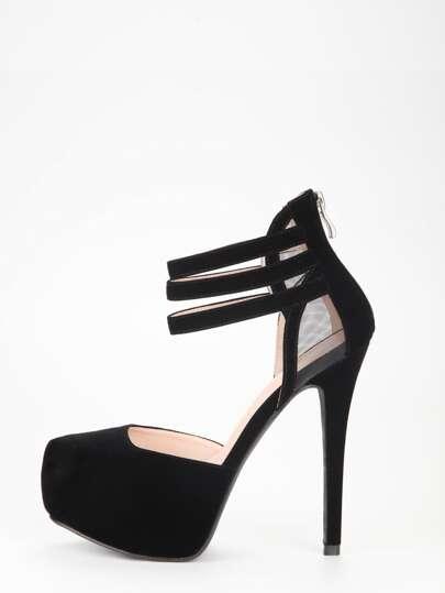 chaussure à talon avec mesh - Noir