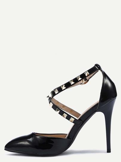 chaussure à talon cheville brassard - Noir