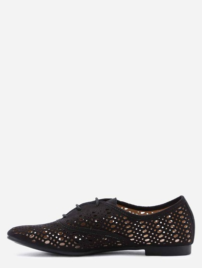 Scarpe laser-cut Oxford - Nero