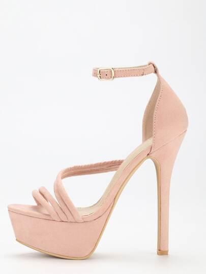 Escarpins sandales à plate-forme avec bride - rose