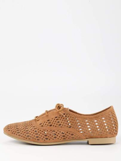 Scarpe laser-cut Oxford - Marrone