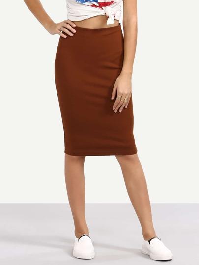 Brown Sexy Tight Short Skirt