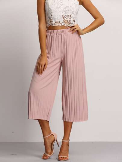 Elastic Waist Pleated Pant