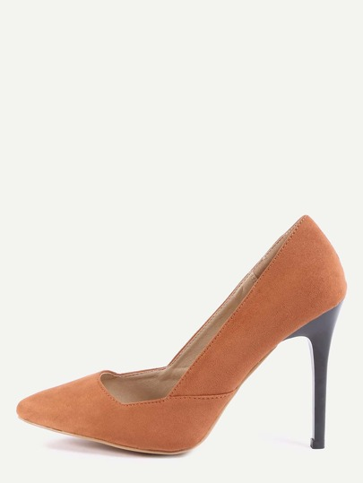 Pumps faux suede punto -marrón claro