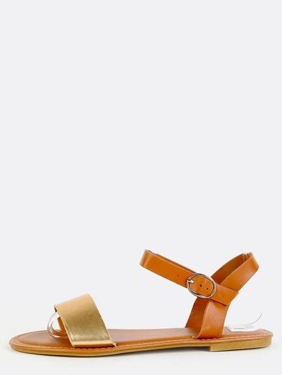 Metallic Duo Tone Sandals GOLD