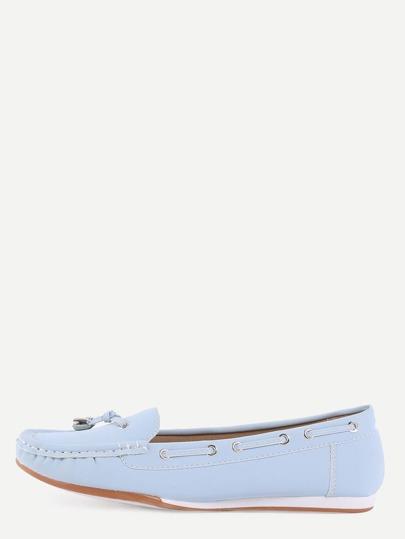 Chaussures en faux daim avec lacets - bleu clair