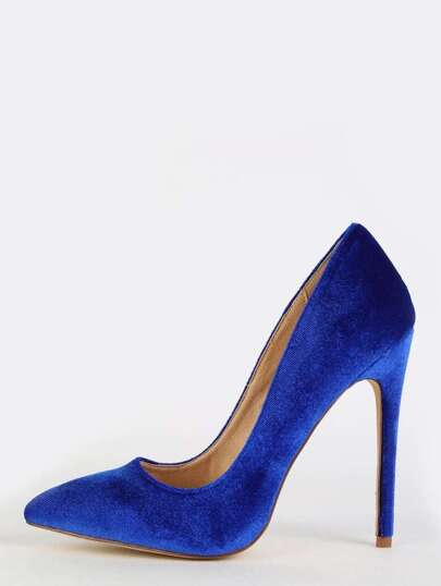 Pointed Toe Stiletto Heels BLUE