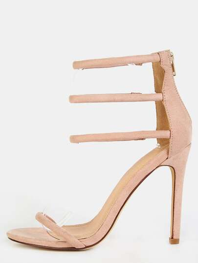 Minimal Strap Single Sole Heels NUDE