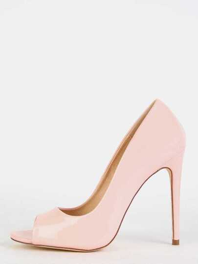 Patent Stiletto Pumps BLUSH