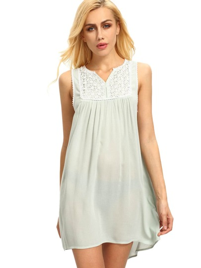 Green House Sleeveless Embroidered Dress