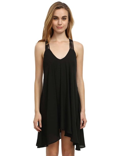 Black Sleeveless Backless Romantic Loved Lolita Pleated Dress
