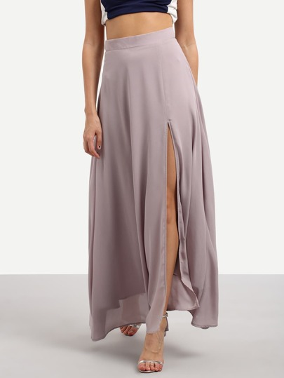 High Split Side Chiffon Skirt
