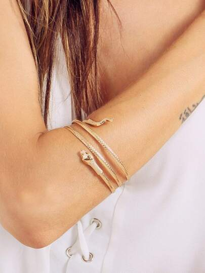 Snake-shaped Arm Cuff
