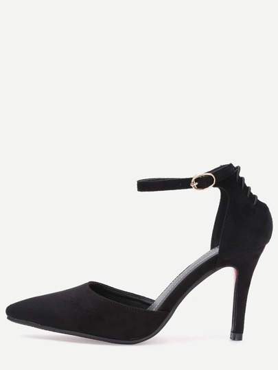 Pumps tirante tobillo  -negro