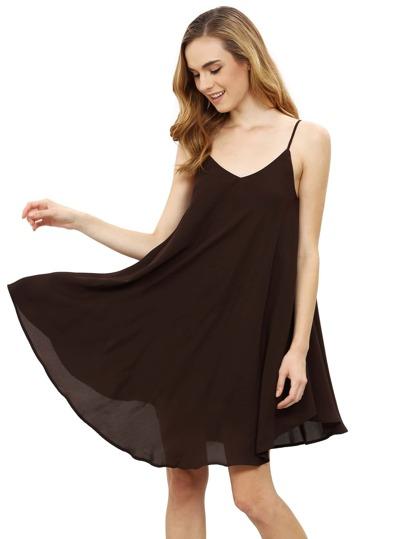 Spaghetti Strap Asymmetrical Shift Dress Vestidos de noche