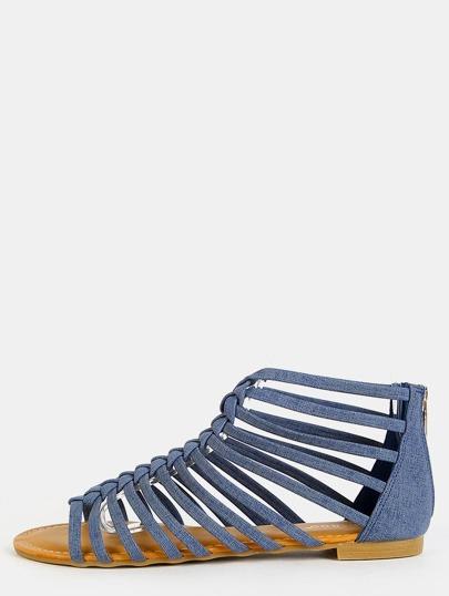 Caged Braid Denim Sandal DENIM