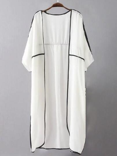 Kimono largo puro -blanco