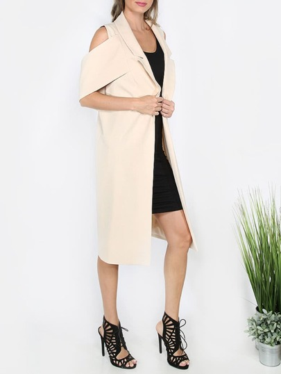 Apricot Cold Shoulder Collar Outerwear