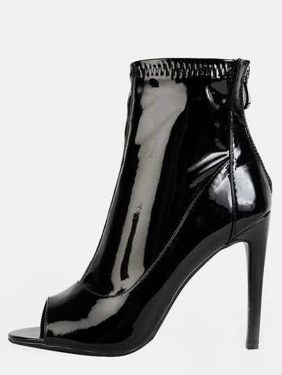 Botines patente tobillo - negro