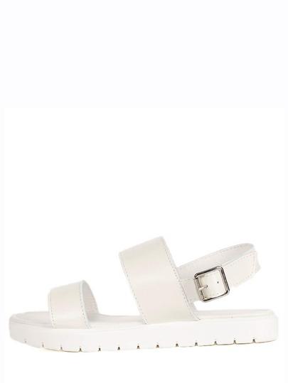 Sandale à plate-forme avec boucle -blanc