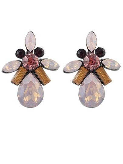 Pink Drop Gemstone Earrings