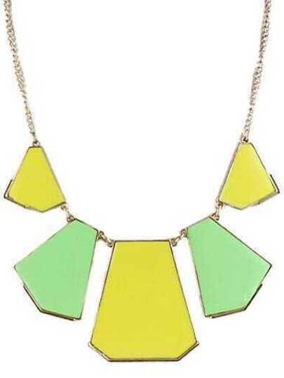 Multicolor Collar Geometry Irregular Pendant Necklace
