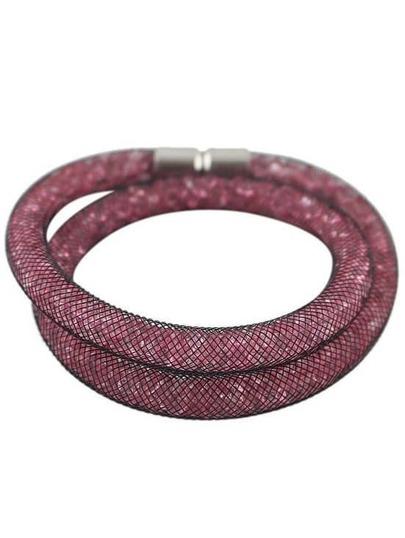 Rose Red Mesh Two Laps Bracelet