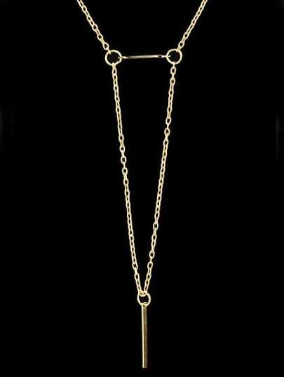Gold Triangle Chain Necklace