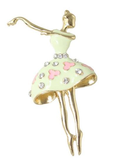 broche apliques bailarina -beige