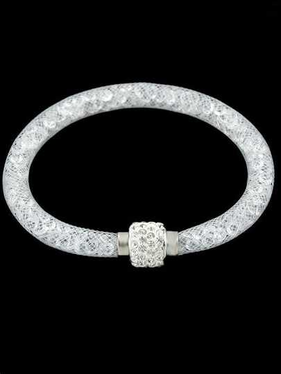 White With Diamond Bracelet