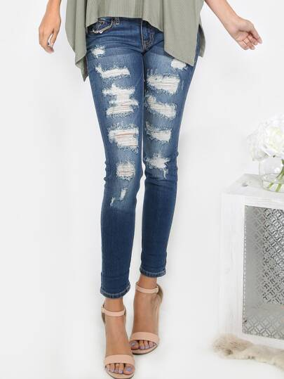 Rugged Short Rise Jeans BLUE