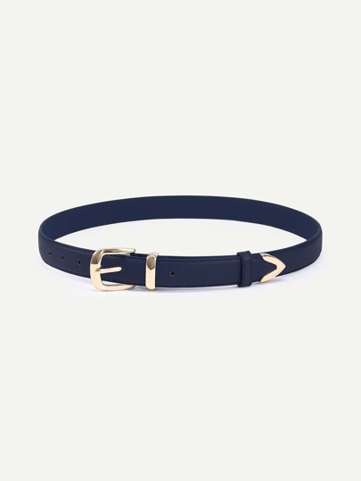 Deep Blue Metal Buckle Belt
