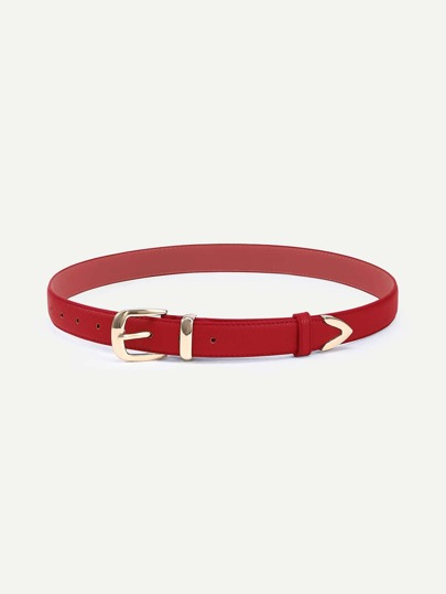 Red Metal Buckle Belt
