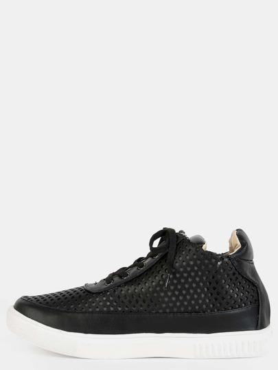 Textured Mesh Sneakers BLACK