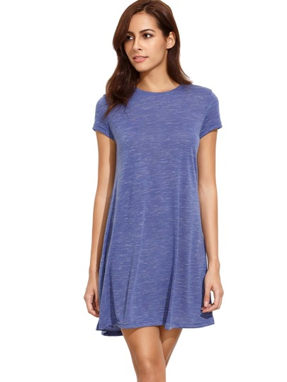 Blue Tees Short Sleeve Casual Dress